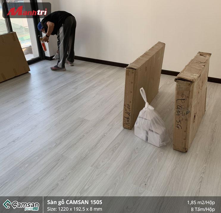 thi công sàn gỗ Camsan 1505 5