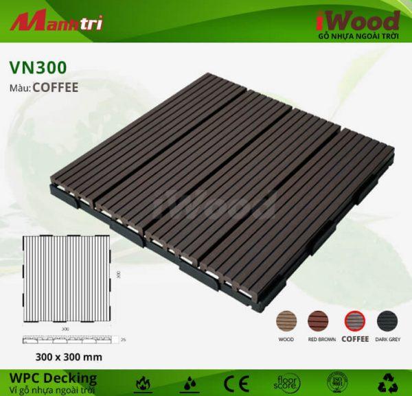 vỉ gỗ iWood VN300 Coffee