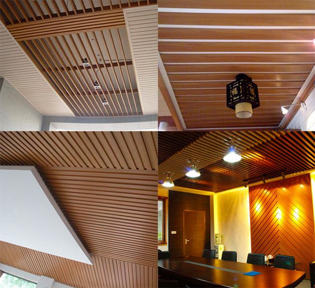 Một số hình ảnh gỗ nhựa WPC ốp trần