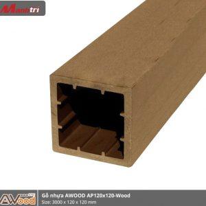 gỗ nhựa Awood AP120x120-wood hình 1