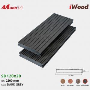 lót sàn iWood SD120x20 Dark Grey hình 3