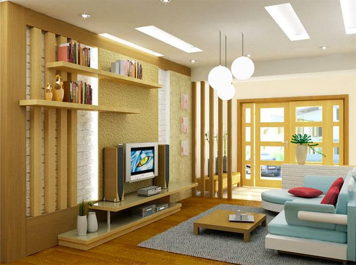 lam gỗ phòng khách
