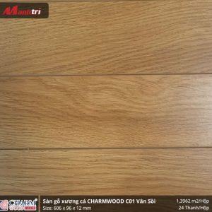 sàn gỗ xương cá Charmwood C01 vân sồi