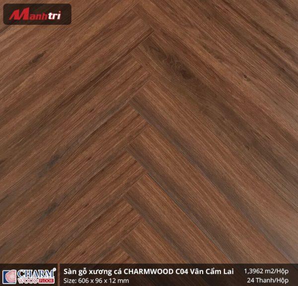 sàn gỗ xương cá charmwood