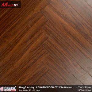 Sàn gỗ xương cá Charmwood C02 vân óc chó hình 3