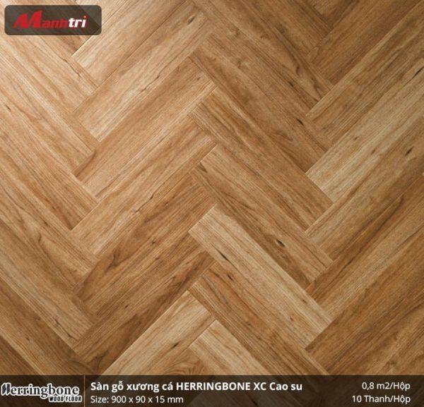 sàn gỗ xương cá Herringbon XC Cao Su