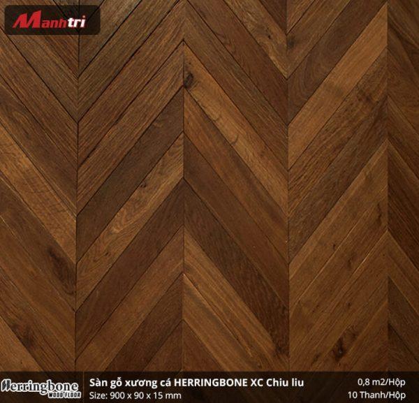 sàn gỗ xương cá Herringbon XC Chiu liu