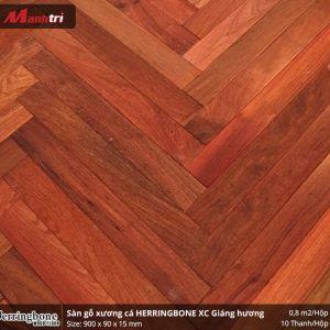 sàn gỗ xương cá Herringbon XC Giáng Hương