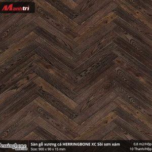 sàn gỗ xương cá Herringbon XC Sồi Sơn Xám