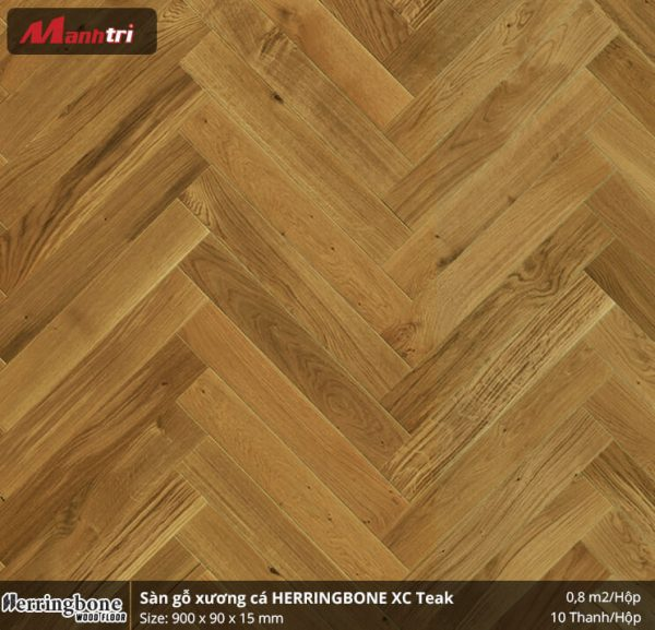 sàn gỗ xương cá herringbone XC Teak