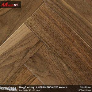 sàn gỗ xương cá herringbone XC Walnut