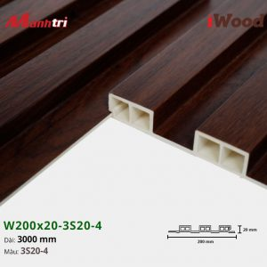 tấm ốp iwood w200-20-3s20-4 hình 3