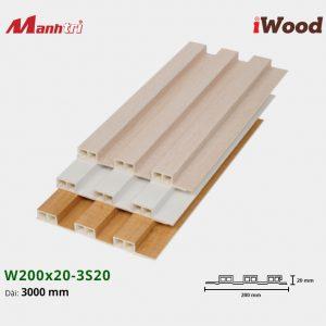 tấm ốp iwood w200-20-3s20 hình 2