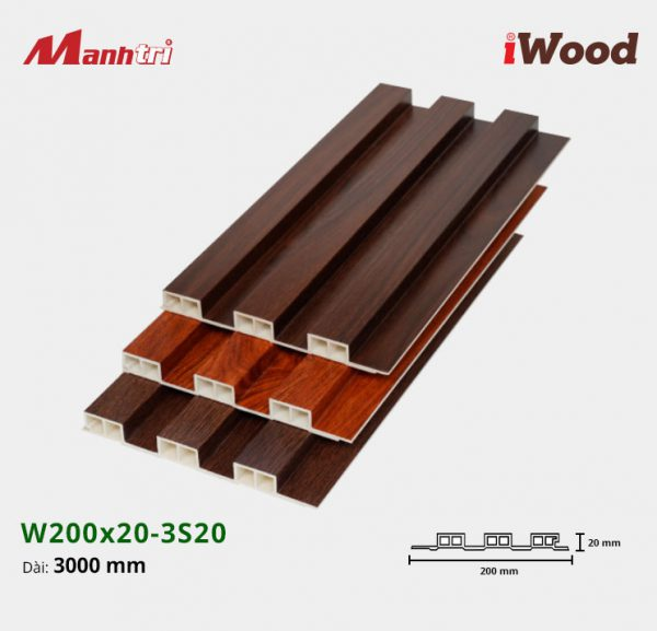 tấm ốp iwood w200-20-3s20 hình 1
