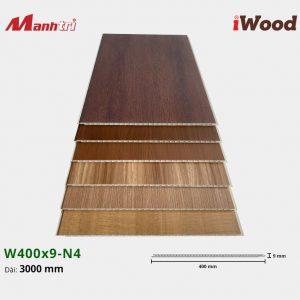 tấm ốp iWood W400x9-N4 hình 1
