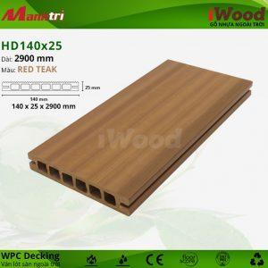 iWood HD140-25-Redteak hình 2
