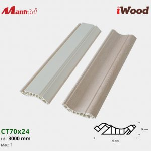 iWood Nẹp trần CT70x24-1
