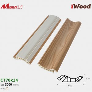 iWood Nẹp trần CT70x24-2
