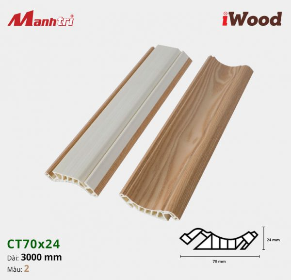 iWood Nẹp trần CT70x24-2