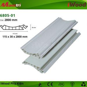 Phào đầu trần iWood 6805-01 hình 2