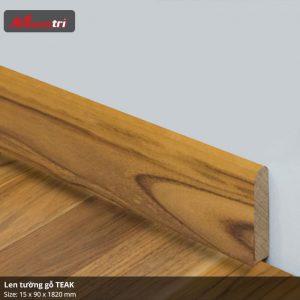 Len tường gỗ Teak