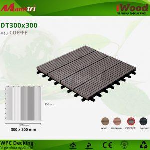 vỉ gỗ nhựa DT300x300-Coffee
