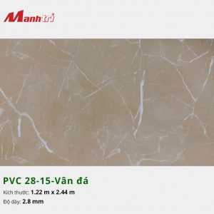 Tấm nhựa PVC 28-15-vân đá