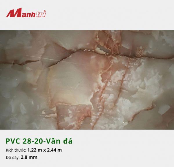 Tấm nhựa PVC 28-20-vân đá