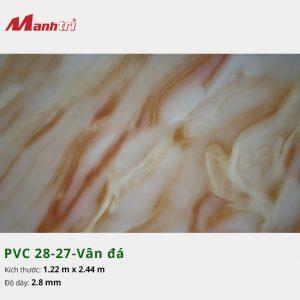 Tấm nhựa PVC 28-27-vân đá