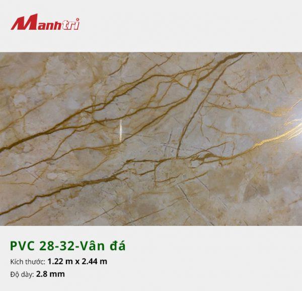 Tấm nhựa PVC 28-32-vân đá