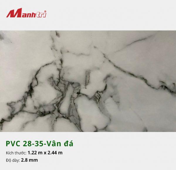 Tấm nhựa PVC 28-35-vân đá