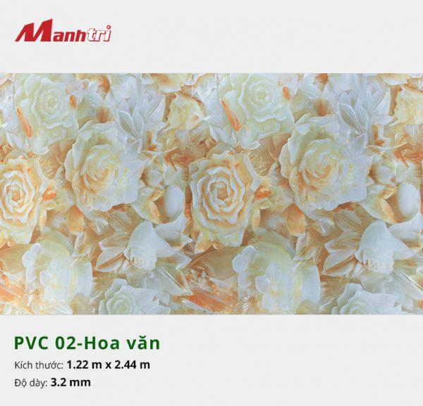 tấm ốp tường hoa văn PVC 02