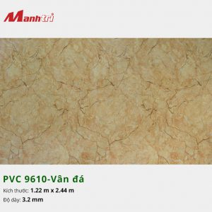tấm ốp tường vân đá PVC 9610