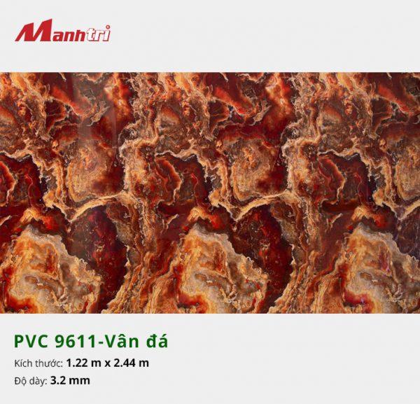 tấm ốp tường vân đá PVC 9611