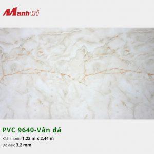 tấm ốp tường vân đá PVC 9640
