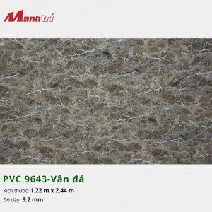 tấm ốp tường vân đá PVC 9643