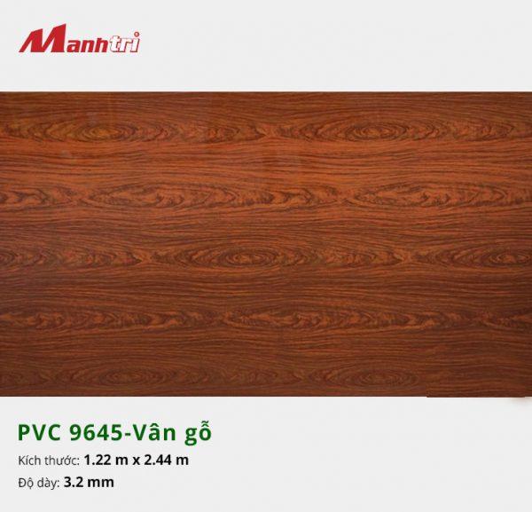 tấm ốp tường vân gỗ PVC 9645