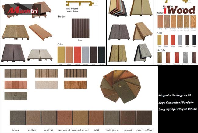 bảng màu gỗ nhựa composite1