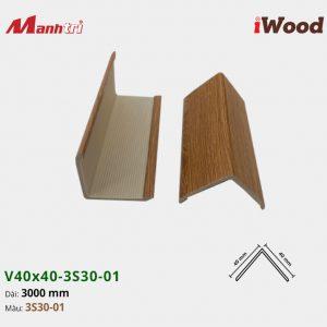 nẹp iWood V40x40-3S30-01 hình 2