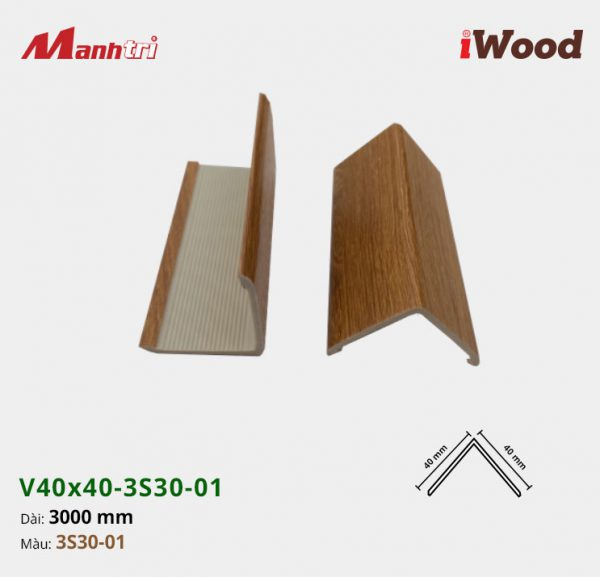 nẹp iWood V40x40-3S30-01 hình 3
