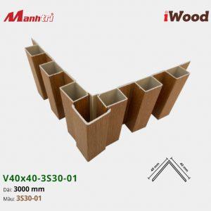 nẹp iWood V40x40-3S30-01 hình 5