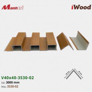 nẹp iWood V40x40-3S30-02 hình 2