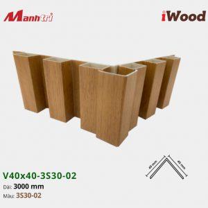 nẹp iWood V40x40-3S30-02 hình 3