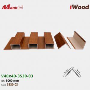 nẹp iWood V40x40-3S30-03 hình 2
