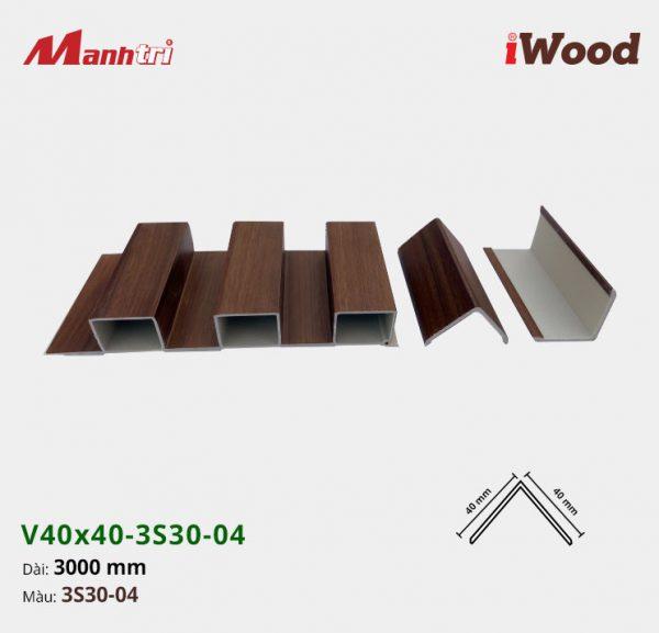 nẹp iWood V40x40-3S30-04 hình 2