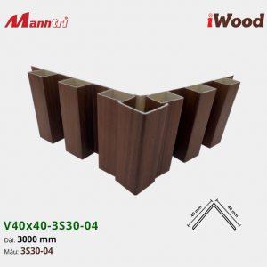 nẹp iWood V40x40-3S30-04 hình 3