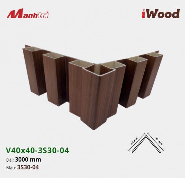nẹp iWood V40x40-3S30-04 hình 4