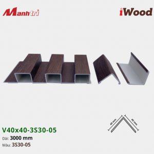 nẹp iWood V40x40-3S30-05 hình 2