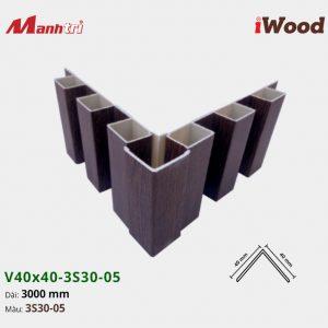 nẹp iWood V40x40-3S30-05 hình 3
