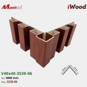 nẹp iWood V40x40-3S30-06 hình 3